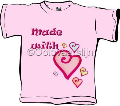 Baby T-shirt Made with love  maat 62